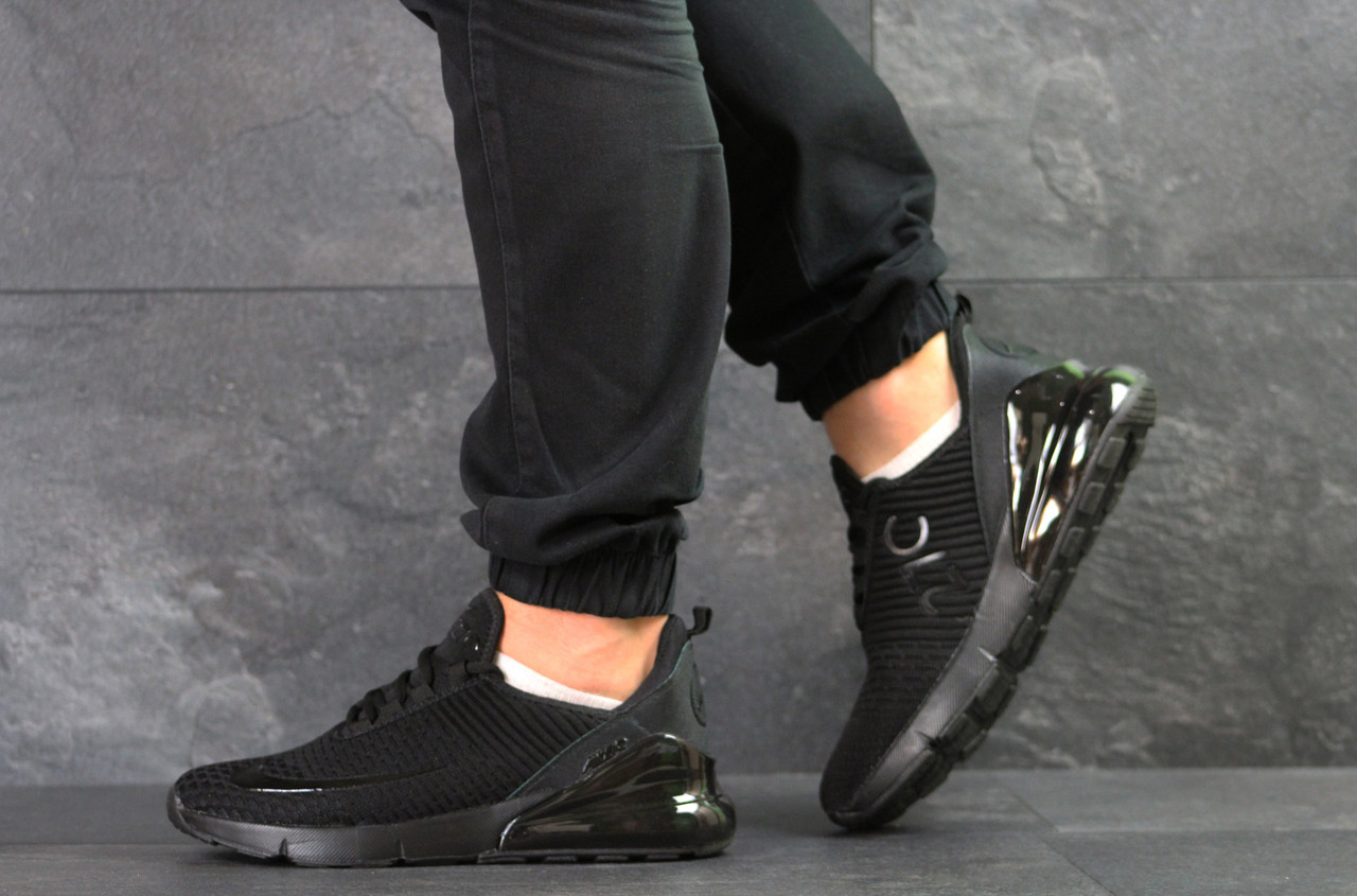 Мужские кроссовки Nike Air Max 270 текстиль,черные 44,46р