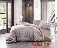 Полуторный комплект постельного белья Altinbasak Ранфорс Adal bej