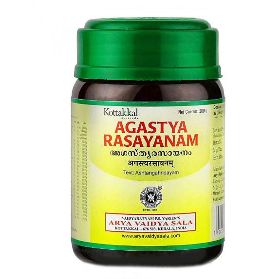 При кашле и астме Чаванпраш Агастья расаяна,Agastya Rasayanam, Kottakal, 200г