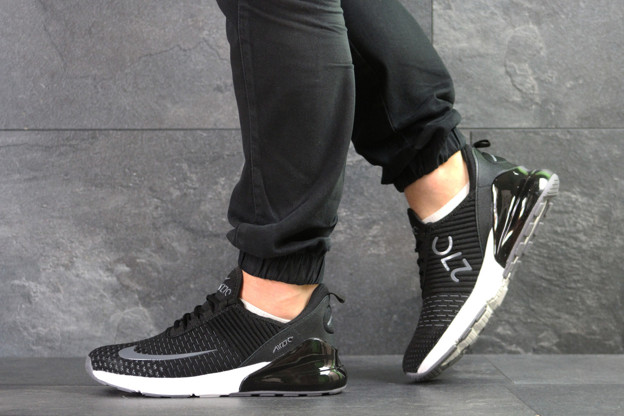 Чоловічі кросівки Nike Air Max 270 текстиль,чорно-білі 44,46 р