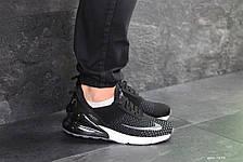 Чоловічі кросівки Nike Air Max 270 текстиль,чорно-білі 44,46 р, фото 2
