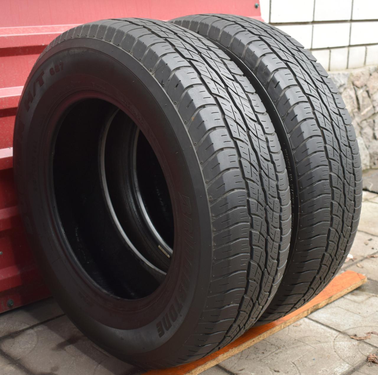 Шины б/у 215/70 R16 Bridgestone Dueler H/T 687, ЛЕТО, 5.5 мм, пара