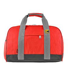 Дорожная сумка TONGSHENG 46х31х26 красная ткань оксфорд  кс99566кр, фото 3
