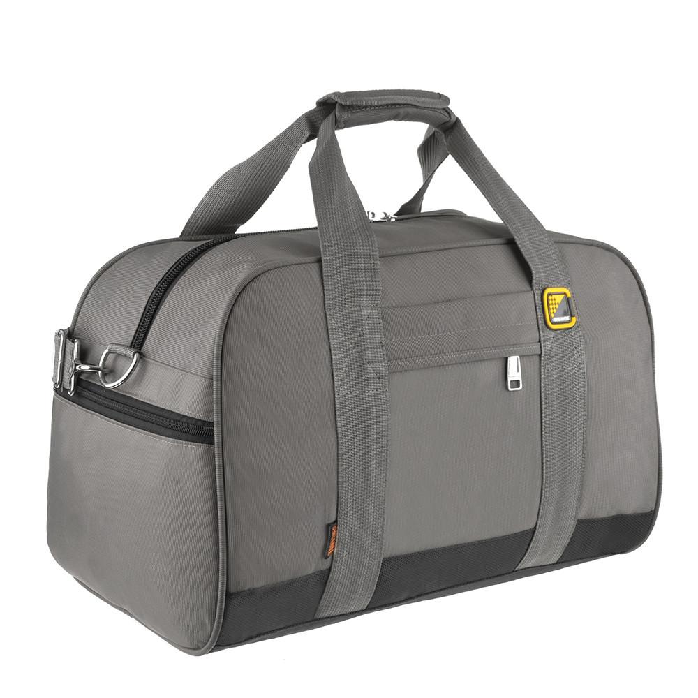 Дорожная сумка ткань оксфорд TONGSHENG 46х31х26 серая  кс99566сер