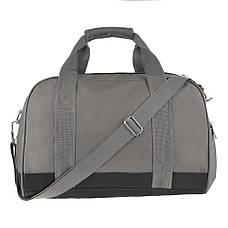 Дорожная сумка ткань оксфорд TONGSHENG 46х31х26 серая  кс99566сер, фото 3