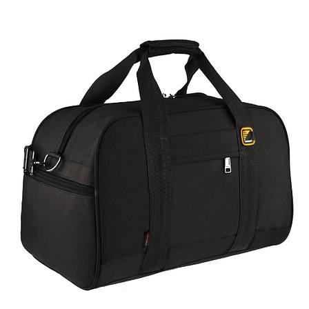 Дорожная сумка TONGSHENG ткань оксфорд 46х31х26 чёрная  кс99566ч, фото 2