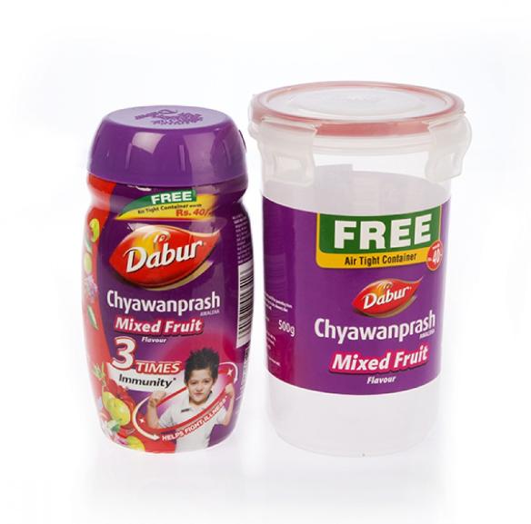 Дабур Чаванпраш фруктовый, Chyawanprash Dabur, Mixed fruit flavour Double Immunity & Strength, 500 г