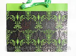 Пакет 32*25,5*11 картонный BK-1400 Узоры-металл