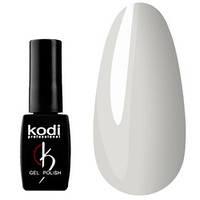 Гель-лак KODI № BW 30 - плотный белый с легким оливково-серым подтоном, 8 мл