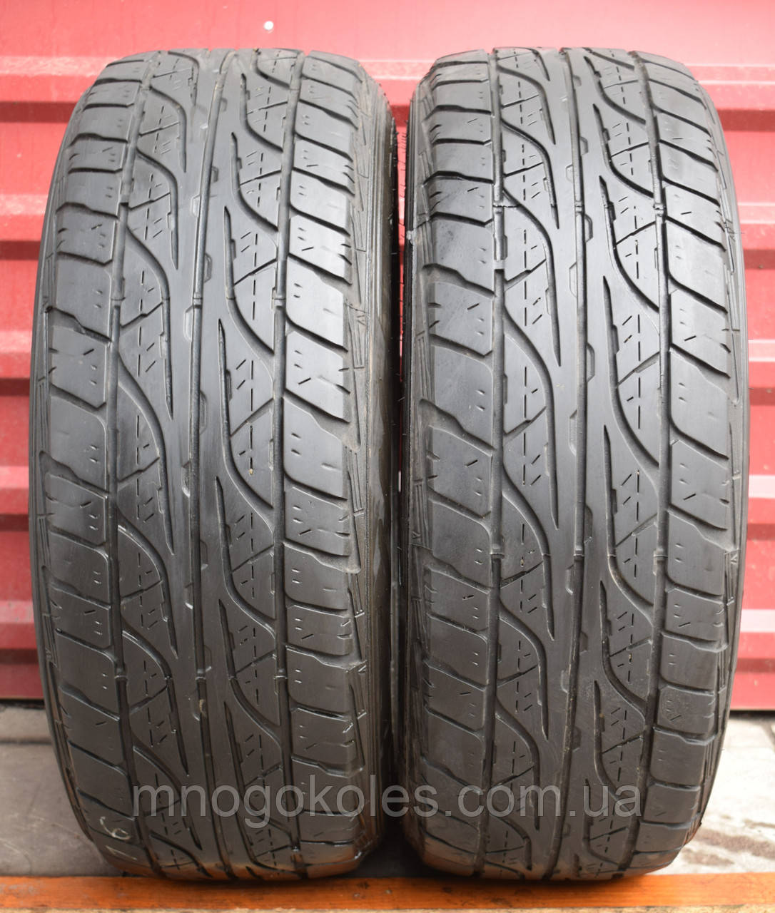 Шины б/у 235/60 R16 Dunlop GrandTrek AT3, ВСЕСЕЗОН, 5 мм, пара