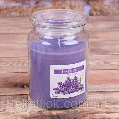 Ароматические  свеча в банке лаванда