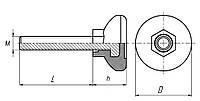 Опора регулируемая | Мебельная ножка М10х45; D-30