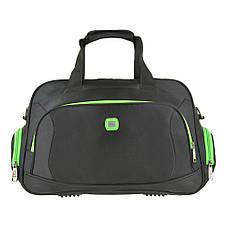Дорожная сумка чёрно-салатовая TONGSHENG 48x29x20 кань нейлон  кс99912чсал, фото 2