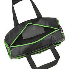 Дорожная сумка чёрно-салатовая TONGSHENG 48x29x20 кань нейлон  кс99912чсал, фото 3