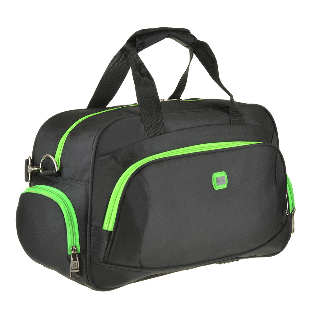 Дорожная сумка чёрно-салатовая TONGSHENG 48x29x20 кань нейлон  кс99912чсал