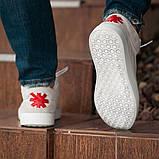 Мужские кроссовки South Wild white, замшевые белые мужские кроссовки, замшевые классические кеды, фото 7