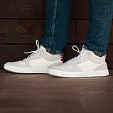Мужские кроссовки South Wild white, замшевые белые мужские кроссовки, замшевые классические кеды, фото 4