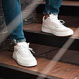 Мужские кроссовки South Wild white, замшевые белые мужские кроссовки, замшевые классические кеды, фото 6
