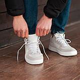 Мужские кроссовки South Wild white, замшевые белые мужские кроссовки, замшевые классические кеды, фото 5