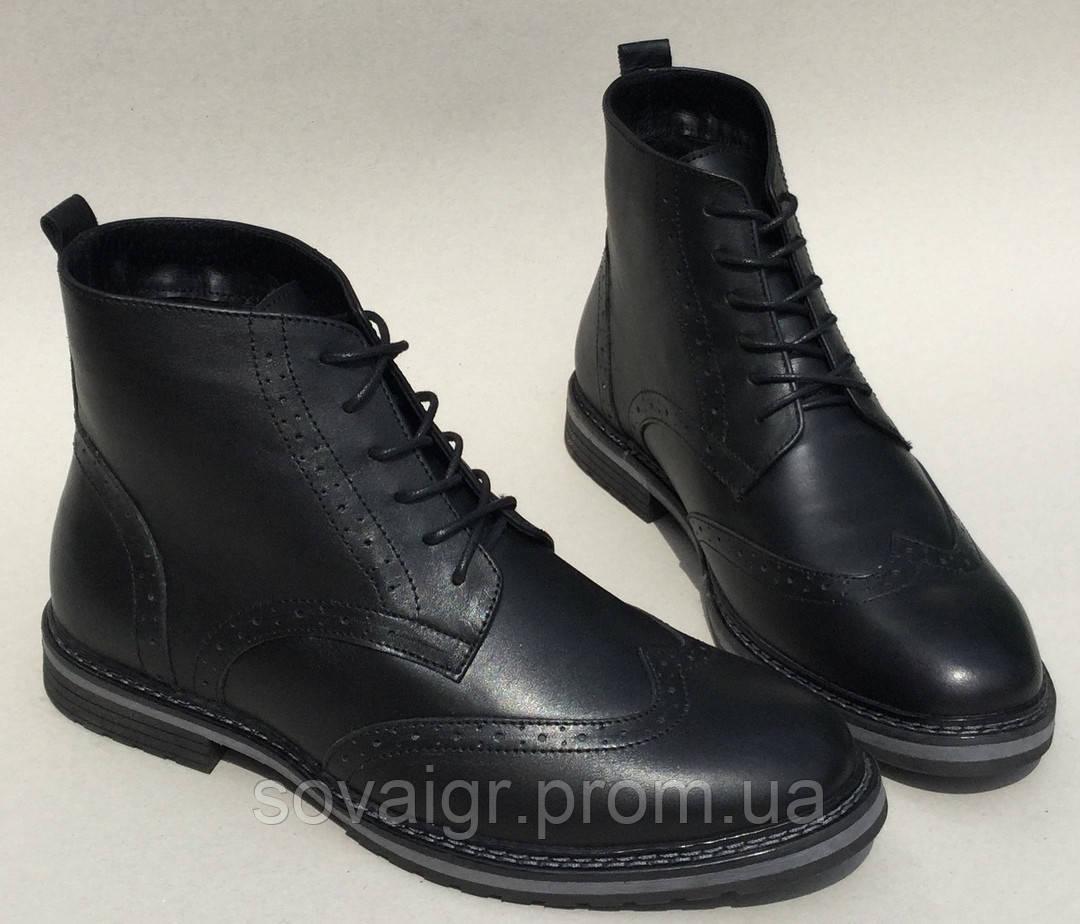 TODS реплика! мужские зимние броги оксфорд на шнуровке натуральная кожа ботинки