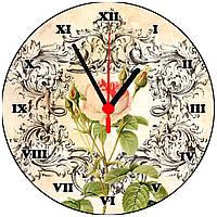 """настенные часы МДФ круглые """"Ветка пиона"""""""
