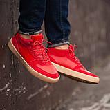 Мужские кроссовки South Wild red, замшевые красные мужские кроссовки, замшевые классические кеды, фото 5