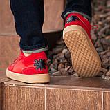 Мужские кроссовки South Wild red, замшевые красные мужские кроссовки, замшевые классические кеды, фото 7