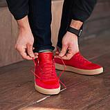 Мужские кроссовки South Wild red, замшевые красные мужские кроссовки, замшевые классические кеды, фото 6