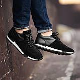 Мужские кроссовки South Flyxx black, классические замшевые кроссовки, мужские замшевые кеды , фото 2