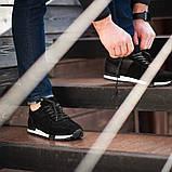 Мужские кроссовки South Flyxx black, классические замшевые кроссовки, мужские замшевые кеды , фото 4