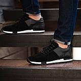 Мужские кроссовки South Flyxx black, классические замшевые кроссовки, мужские замшевые кеды , фото 6