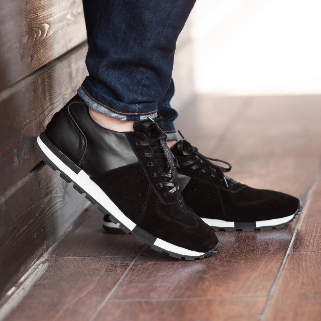 Мужские кроссовки South Flyxx black, классические замшевые кроссовки, мужские замшевые кеды