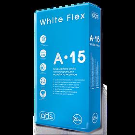 Клей для плитки Atis A-15 White Flex, 25 кг