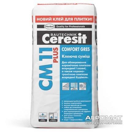 Клей для плитки Ceresit СМ-11 Plus 25кг, фото 2