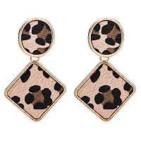 Модные леопард женские винтажные популярные висячие серьги леопардовый принт сережки тренд/ Распродажа!!!, фото 1