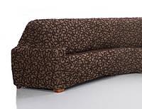 Чехол натяжной на 3-х местный диван Диксон Nueva Textura Шоколадный