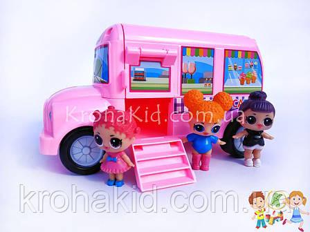 Ігровий набір Лол автобус LOL-01 / Lol camper car / аналог, фото 2