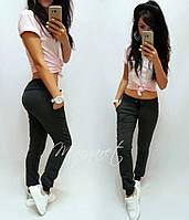 Жіночі спортивні трикотажні штани графіт, чорний, сірий (розмір:42,44,46,48,50,52,54,56,58), фото 1