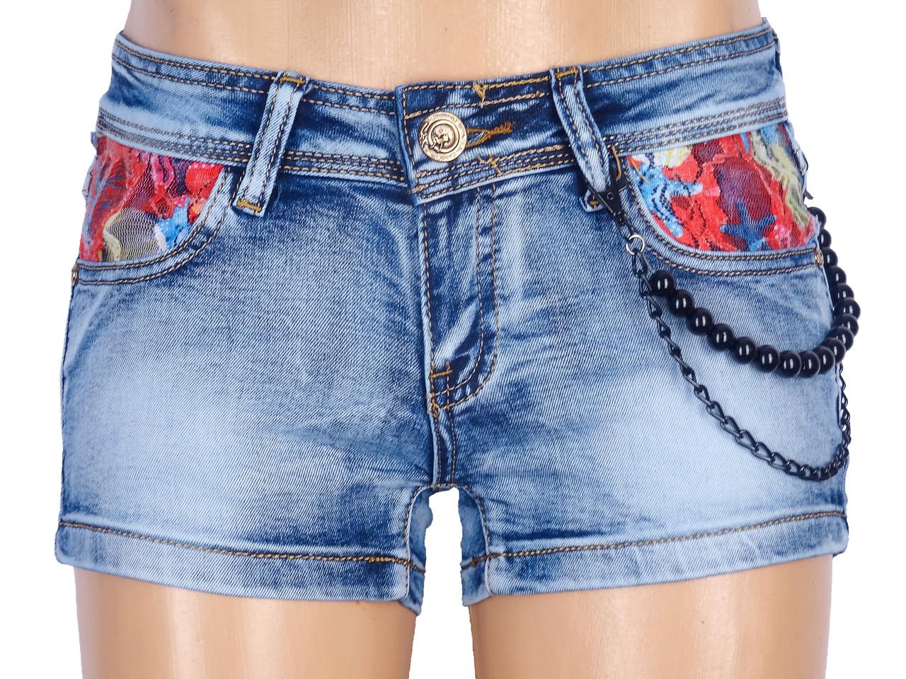 Короткие летние шорты из джинса 40-46