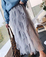 Пышная женская юбка длинною в пол