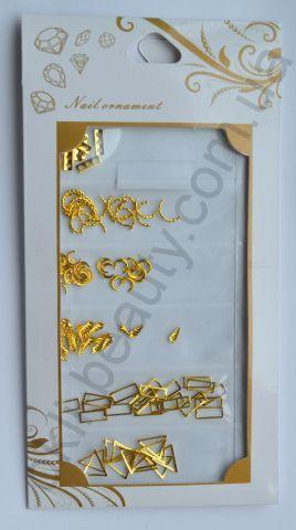 Набор металлических украшений №3 для дизайна ногтей