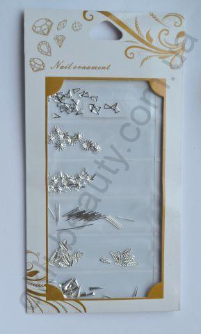 Набор металлических украшений №4 для дизайна ногтей