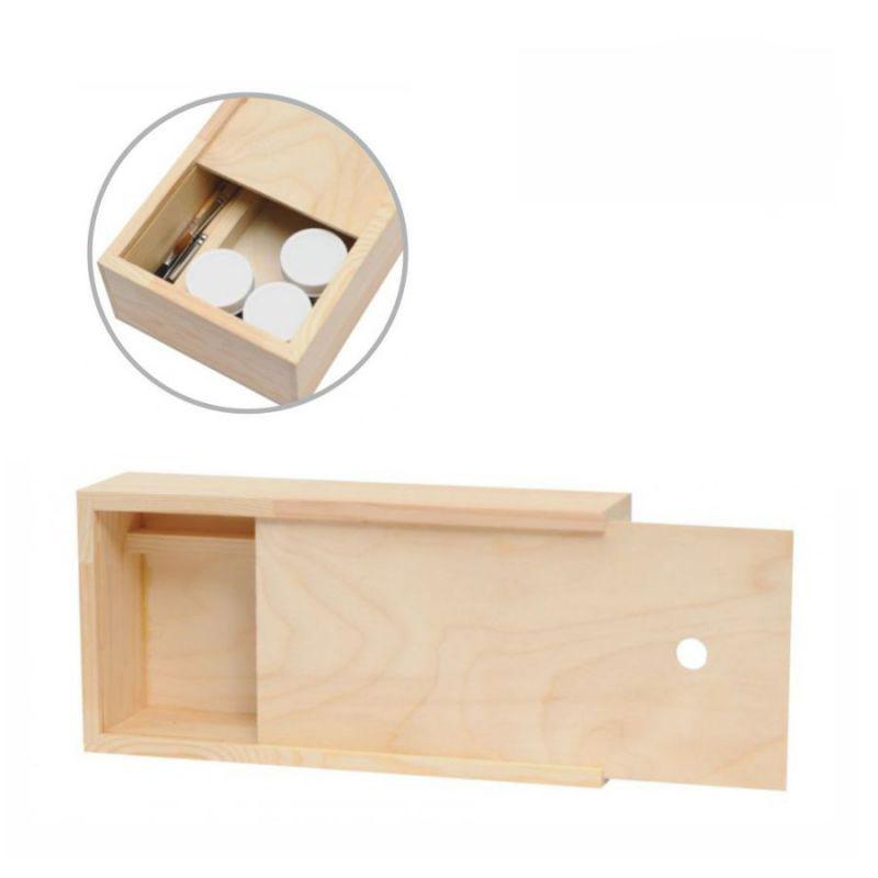 Пенал для гуаши деревянный 28*14*7 см Rosa Studio