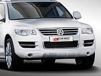 Тюнинг VW Touareg (06-09) накладка переднего бампера (CarBody)