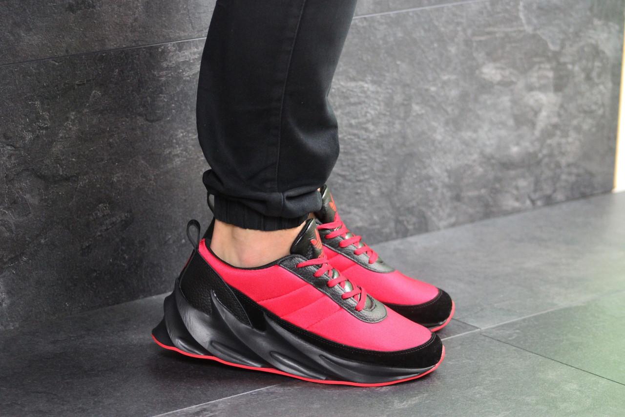 Кроссовки адидас шаркс красные черные спортивные (реплика) Adidas Sharks Red Black