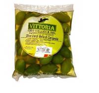 Оливки зеленые фасованные в кульки Vittoria 500g