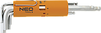 Ключи шестигранные, 2.5-10 мм, набор 8 шт 09-513 Neo, фото 1