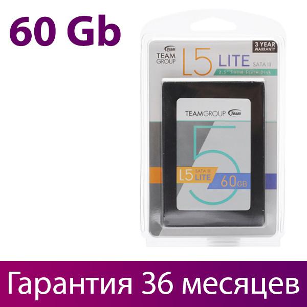 """SSD диск 60 Гб/Gb Team L5 Lite, SATA 3, 2.5"""", MLC, 500/300 MB/s (T2535T060G0C101), ссд накопитель"""