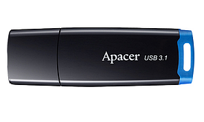USB флешка Apacer AH359 64GB USB 3.1 Black/Blue, фото 2
