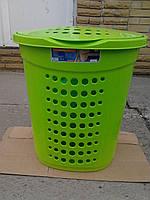 Корзина для белья цвет ярко-зеленый, производитель Украина, фото 1